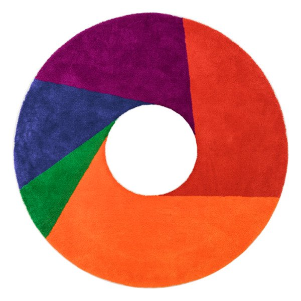 Max Bill Rug [Color Wheel] φ2000mm