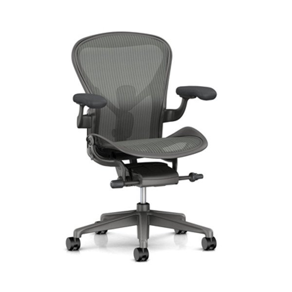Aeron Chair Remastered Carbon Frame / Satin Carbon Base
