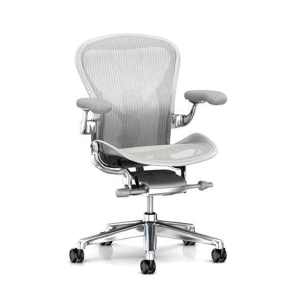 Aeron Chair Remastered  Mineral Frame / Polished Aluminum Base