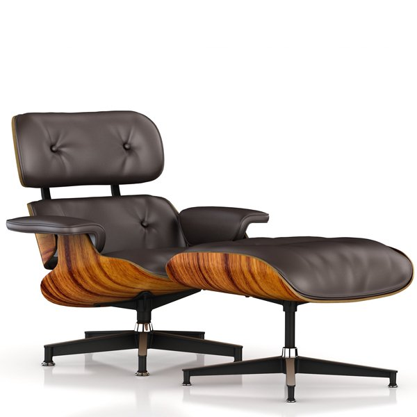 Lounge Chair & Ottoman / New / MCL Leather Brown