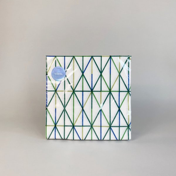 Paper Napkins / Large / Grid green