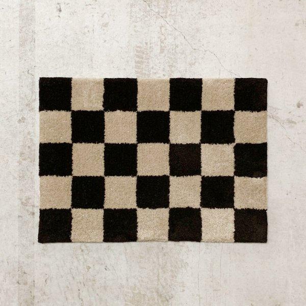 Original Rug / Block(Brown x Beige)