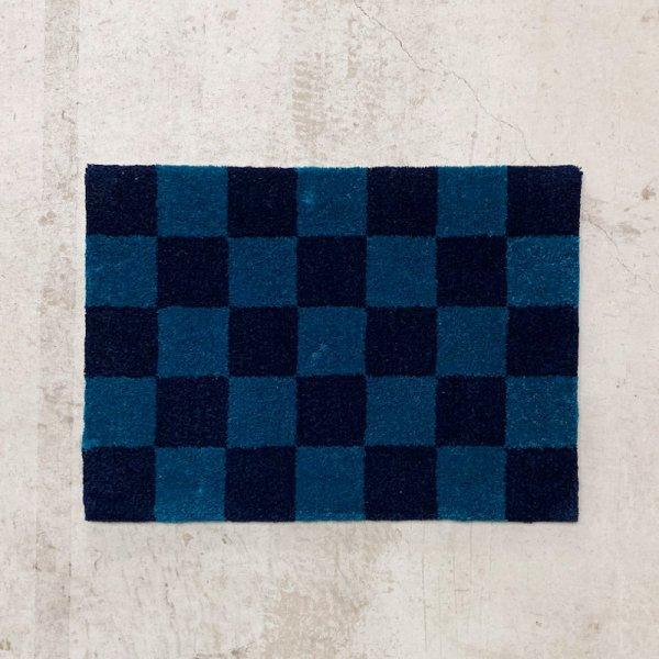 Original Rug / Block(Navy x Blue)