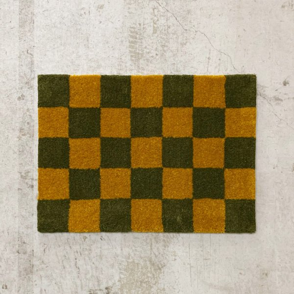Original Rug / Block(Ochre x Moss Green)