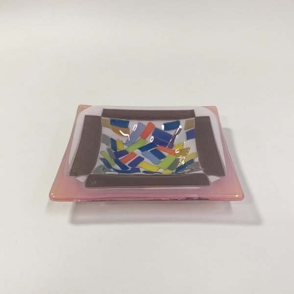 Higgins Glass / Square Dish / #38