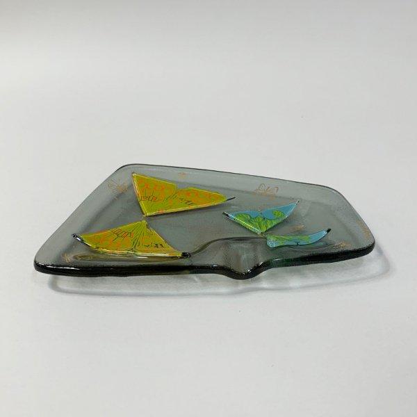 Higgins Glass / Ash Tray / Butterfly / #48