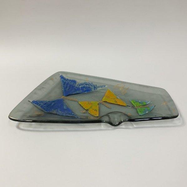Higgins Glass / Ash Tray / Butterfly / #50