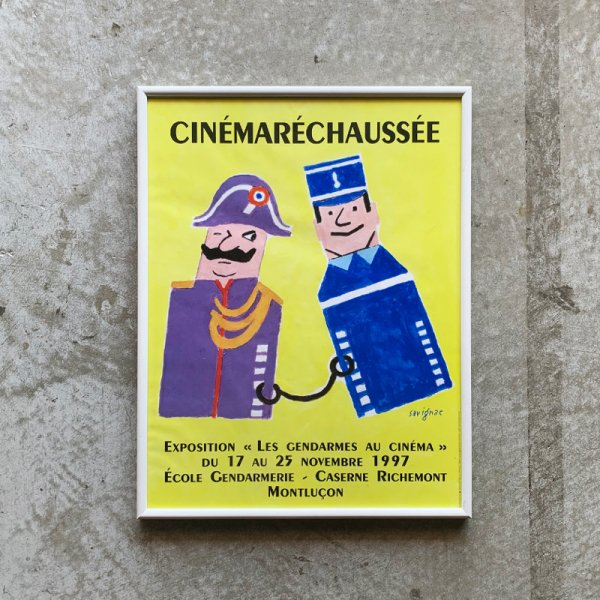 Raymond Savignac Poster / Exposition Les gendarmes au cinema 1997