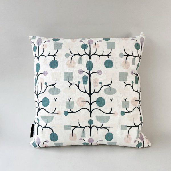 Graphic Print Cushion / Fruits Tree