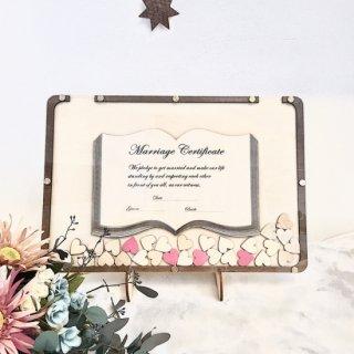 ハートドロップス 結婚証明書一体型 結婚式 ウェルカムスペース