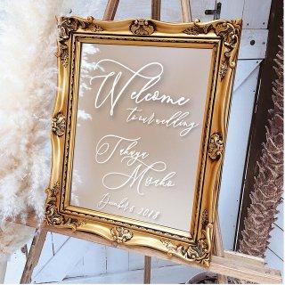 ミラーウェルカムボード ウェディング おしゃれ結婚式アイテム ウェルカムスペース