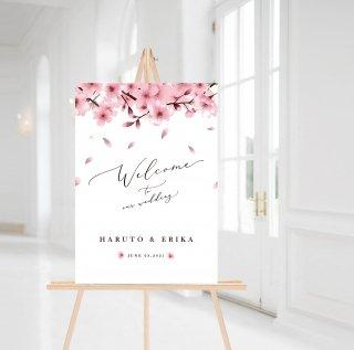 桜ウェルカムボード  ポスターorパネル印刷