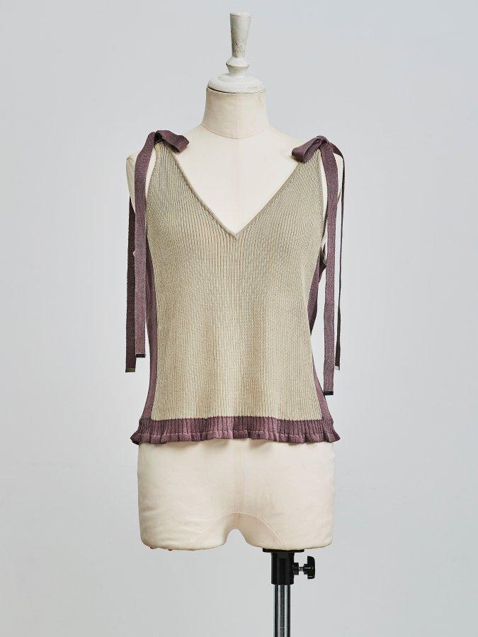Bi-color Knit Camisole