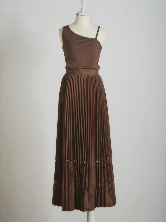 Docking Pleated Dress