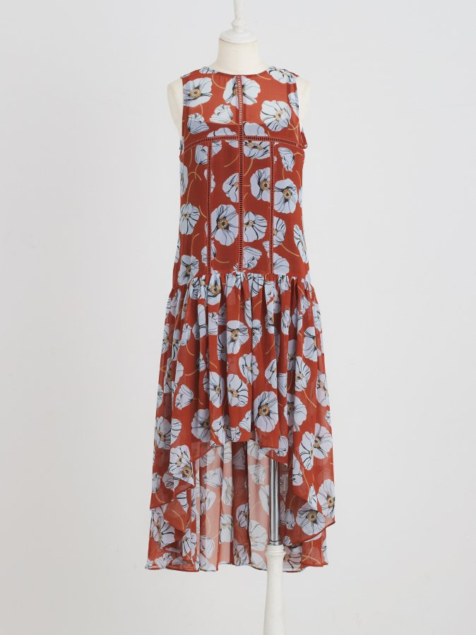 Flower Panel Dress