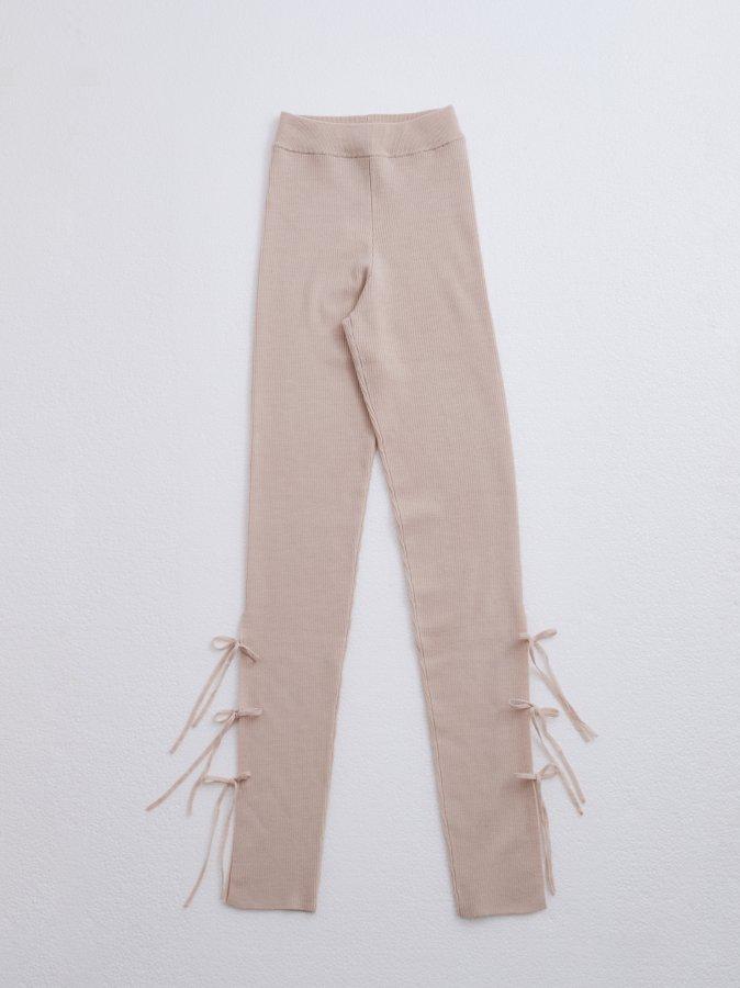 Side Ribbon Knit Leggings