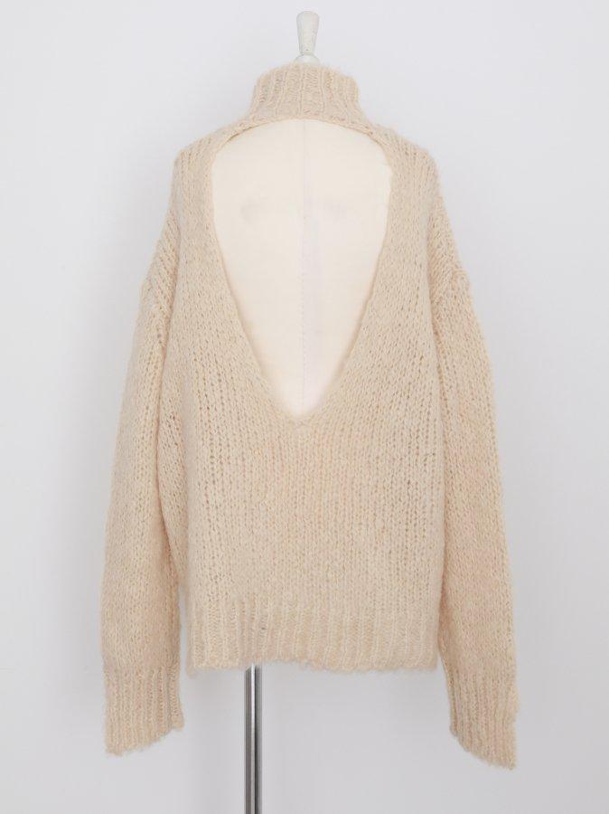 Fluffy Back Open Pullover