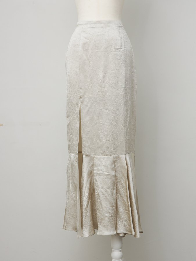 Vintage Satin Long Skirt