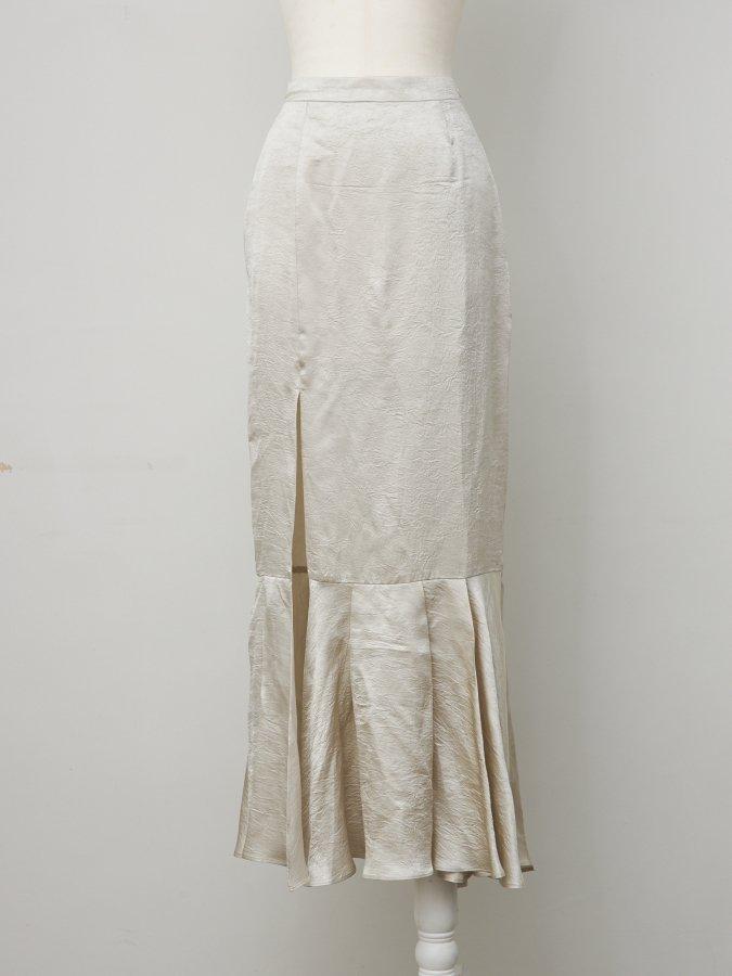 Vintage Satin Long Skirt