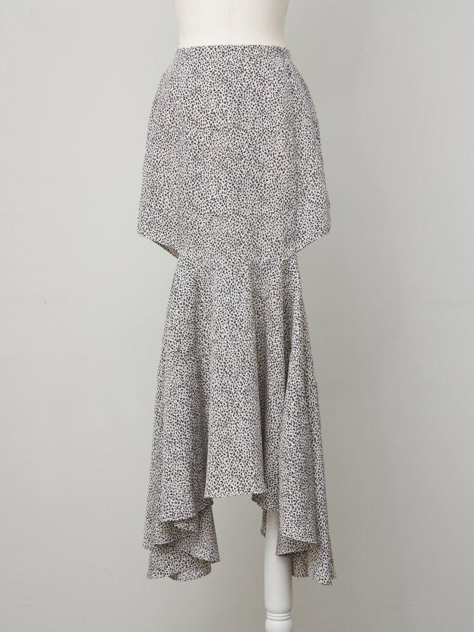 Leopard Side Open Skirt