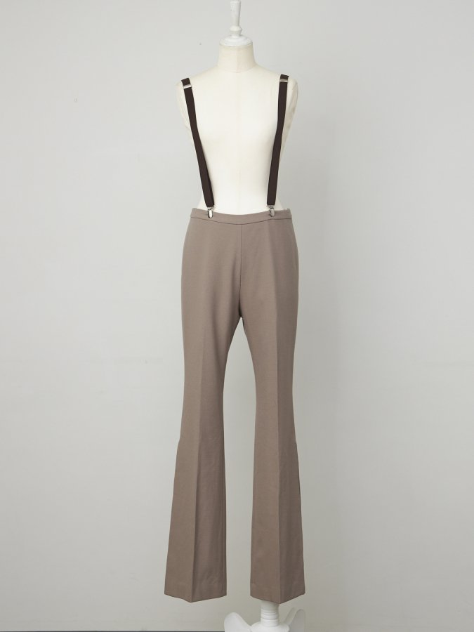 Suspenders Side Slit Pants
