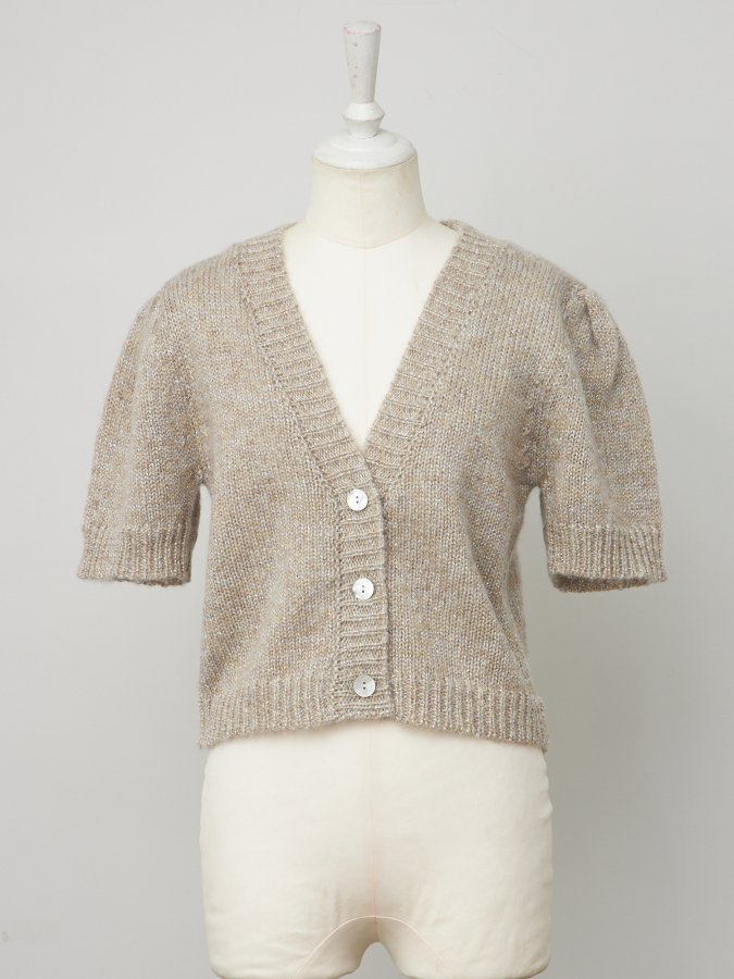 Glitter Knit Short Cardigan