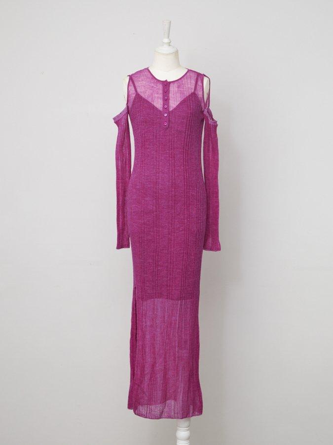 Shear Knit Arm-cover Dress