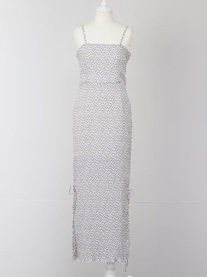 【Pre order】Flower Pleats Cami Dress