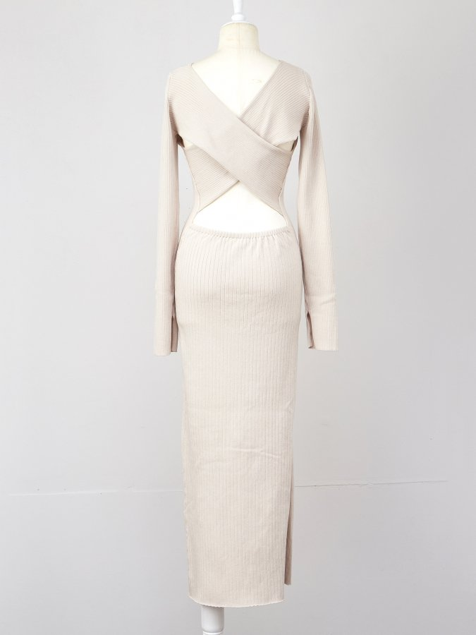 Back Cross Knit Dress