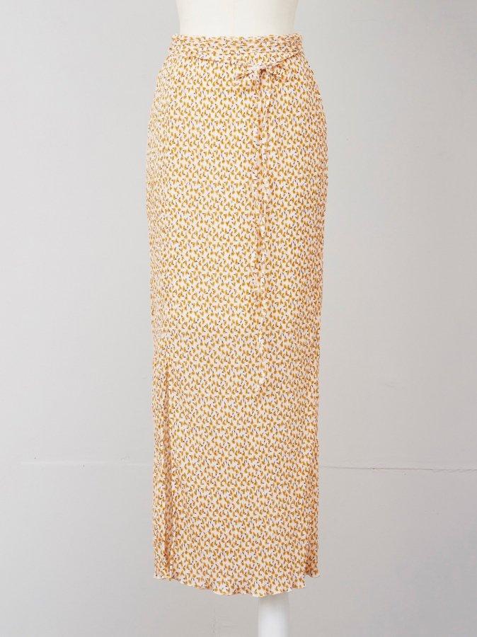【Pre order】Flower Pleats Skirt