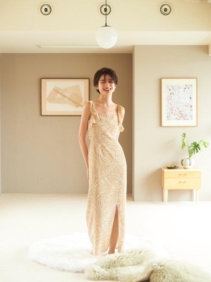 【Pre order】3Way Frill Cami Dress