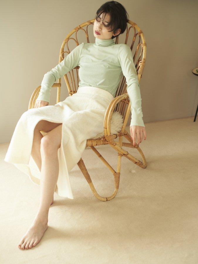 Loop Yarn Slit Skirt