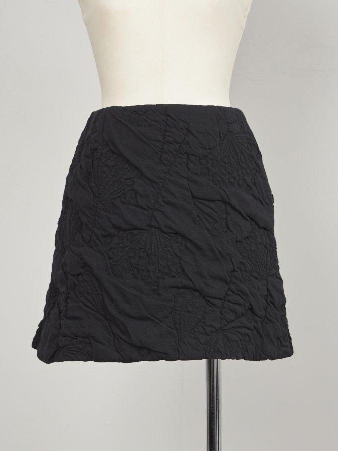 Fluffy Jacquard Mini Skirt