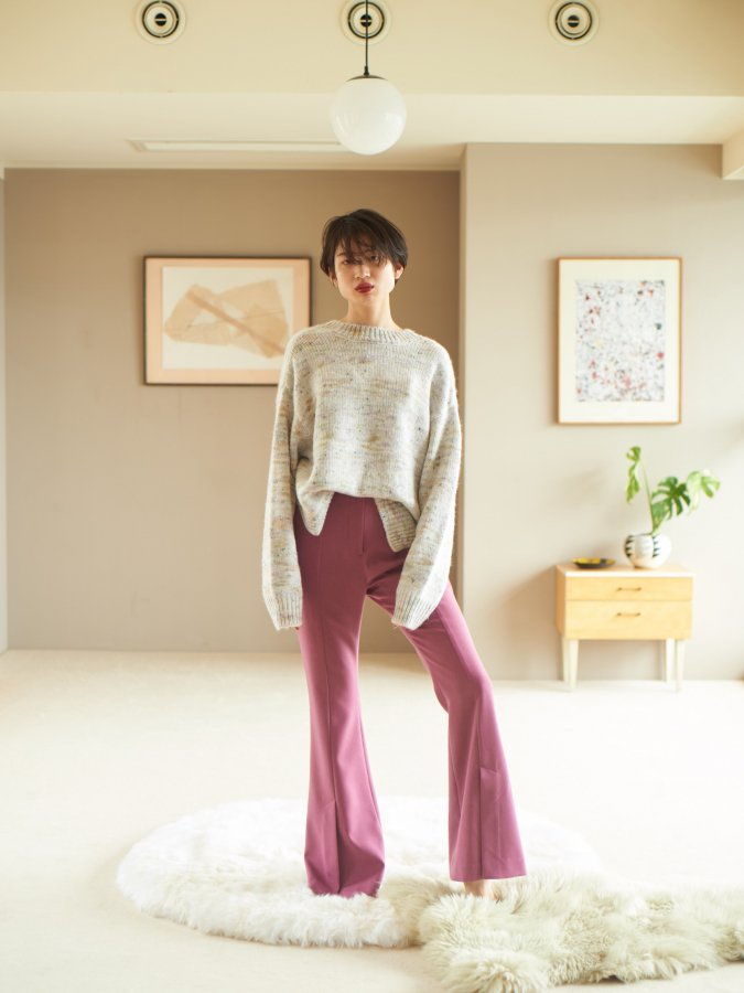 Mix Yarn 2way Pullover