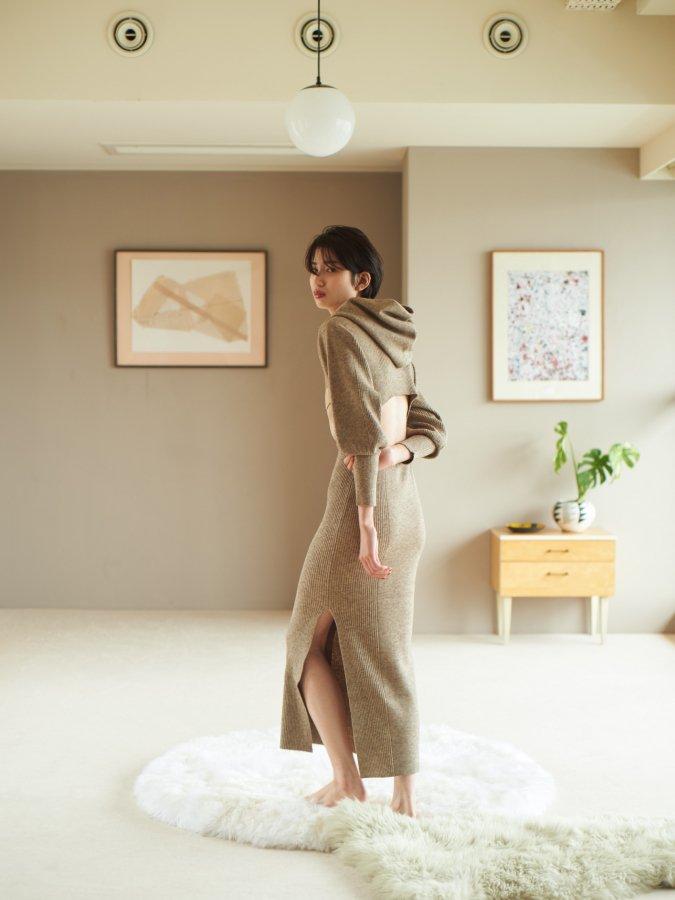 Hoodie Knit Dress