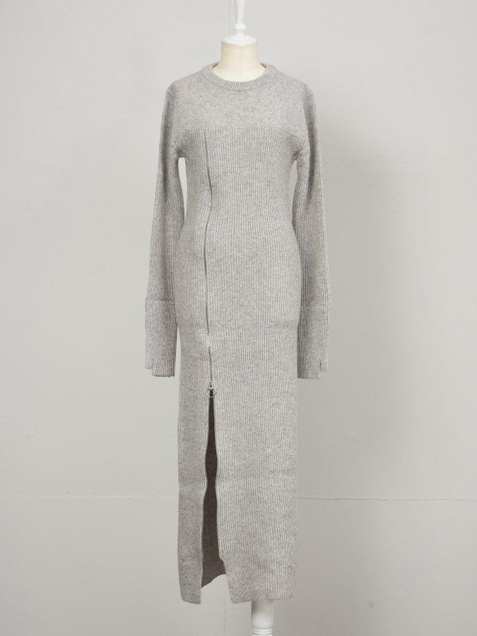 Front Zip Knit Dress