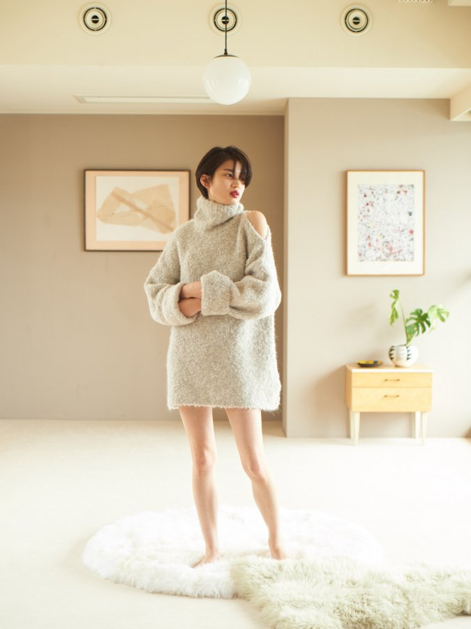【Pre order】Poodle Knit Tunic