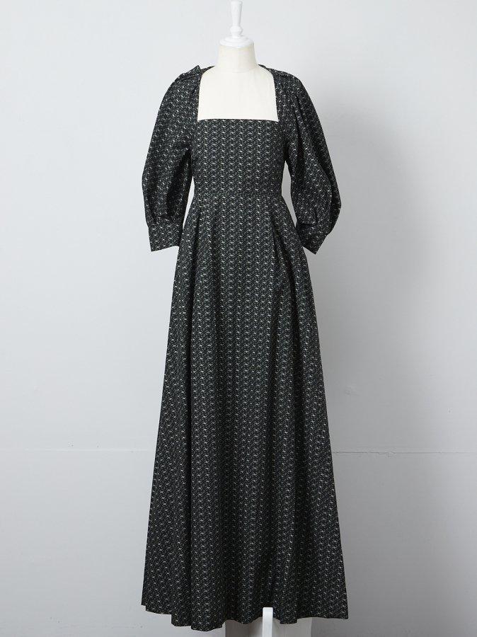 【Pre order】Flower Print Balloon Dress