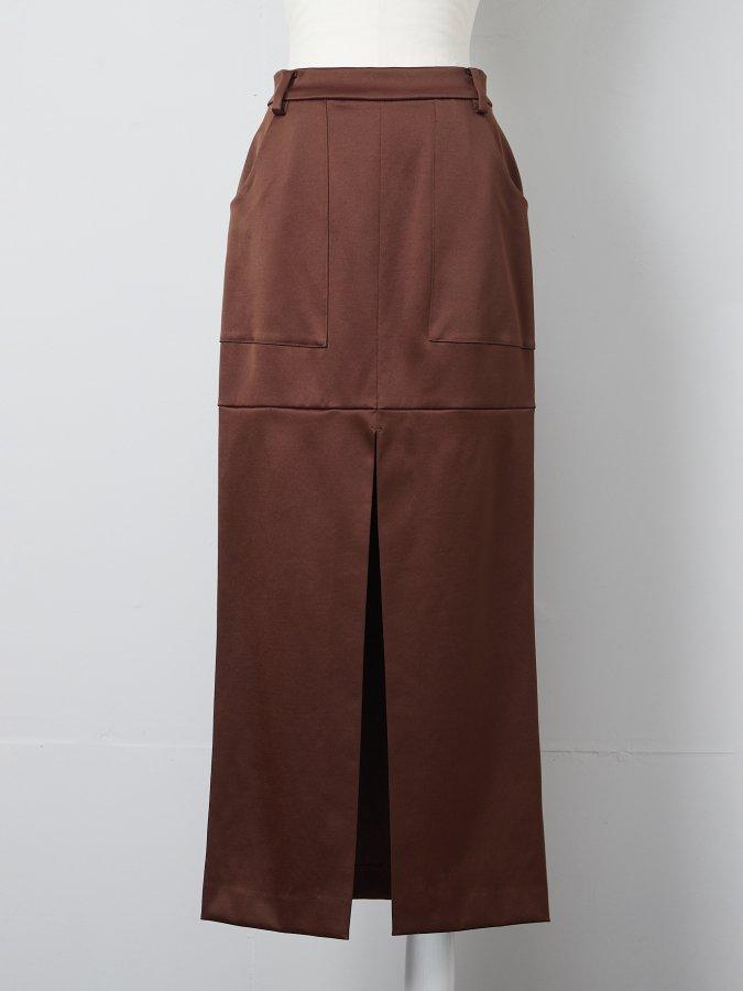【Pre order】Double Satin Slit Skirt