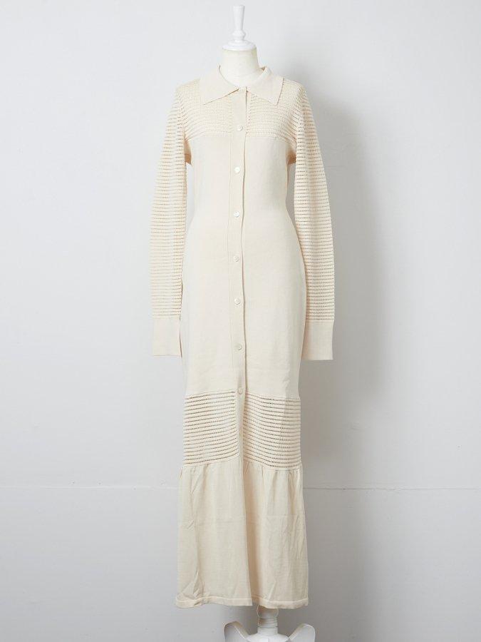 【Pre order】Meshed Knit Dress