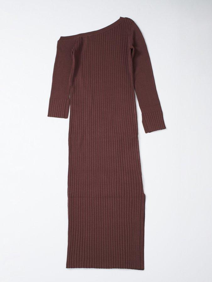 【Pre order】One-shoulder Rib Dress