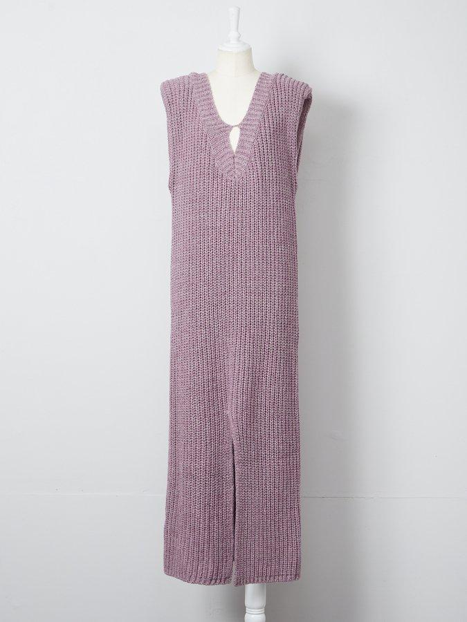 【Pre order】Low Gauge Power Shoulder Dress