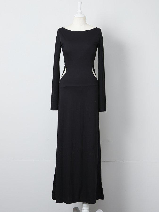 【Pre order】Side Open Jersey Dress
