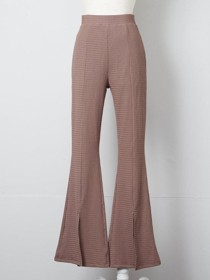 【Pre order】Front Slit Jersey Pants