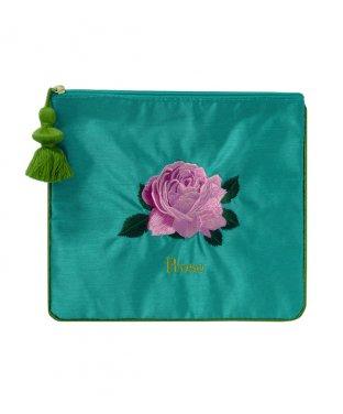刺繍ポーチ:バラ