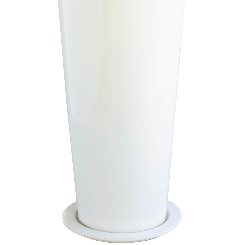 マグノリアリーフ 皿付スリムプランター  H120cm  フェイクグリーン 【当日出荷】