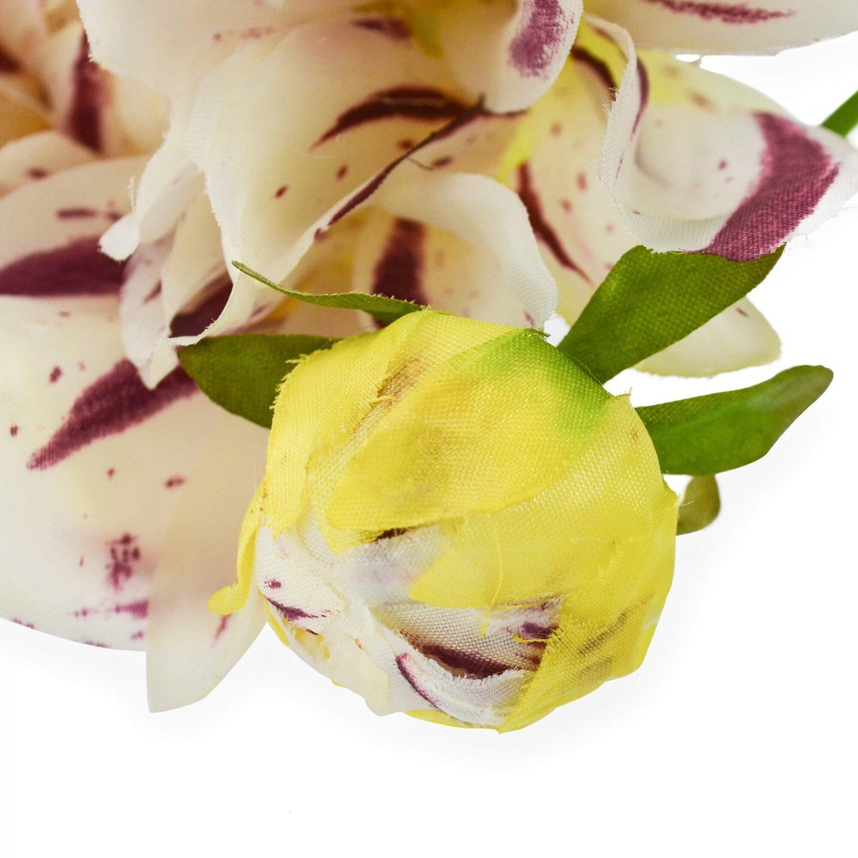 ダリア ホワイト×パープル 単品花材 アーティフィシャルフラワー アートフラワー
