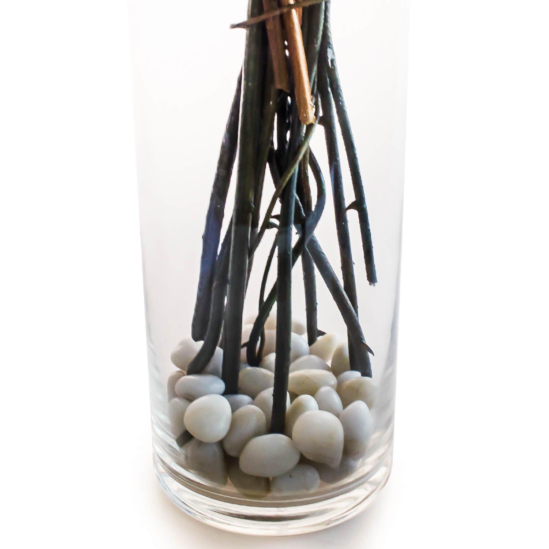 マグノリアのガラスベースアレンジメント  アーティフィシャルフラワー アートフラワー