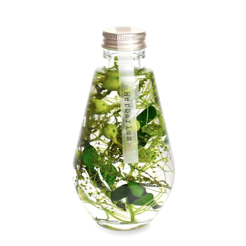 ハーバリウム ドロップ型 ナチュラルグリーン フェイクグリーン