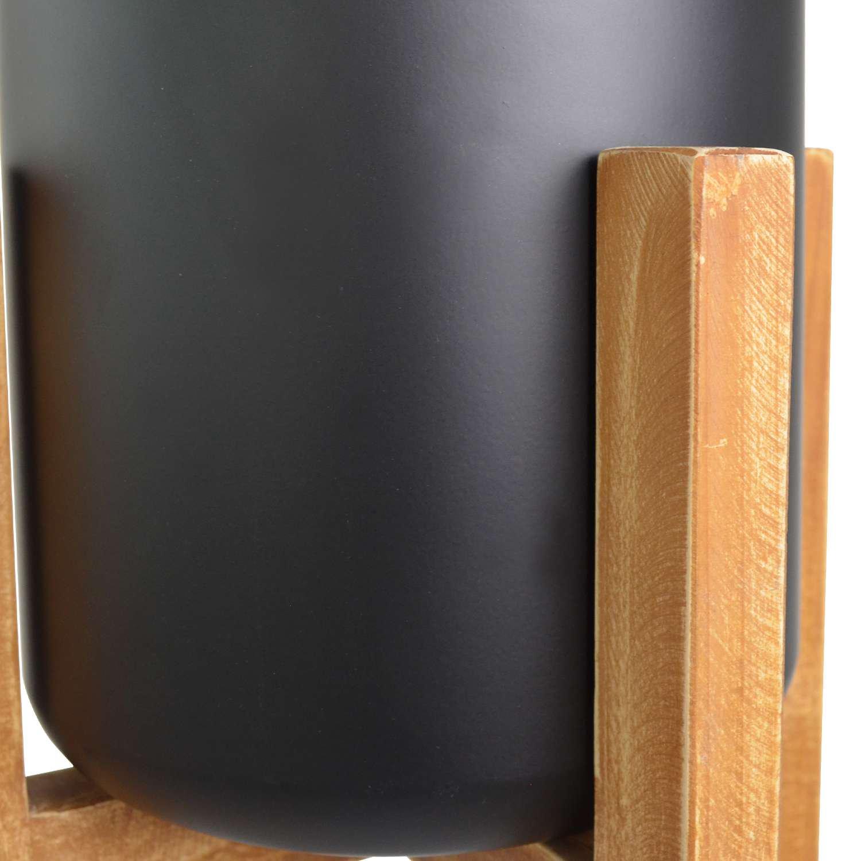 パームリーフ ウッドスタンドポット  H100cm フェイクグリーン